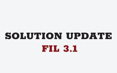 Solution Update: First in Line (FIL) 3.1